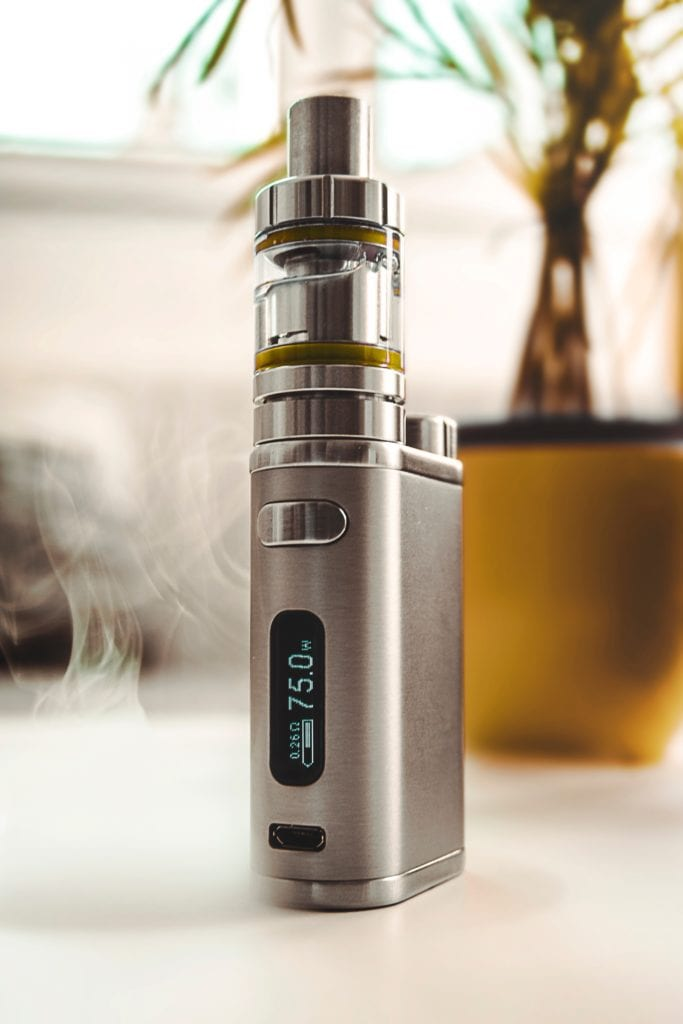 example of a box mod standing upright