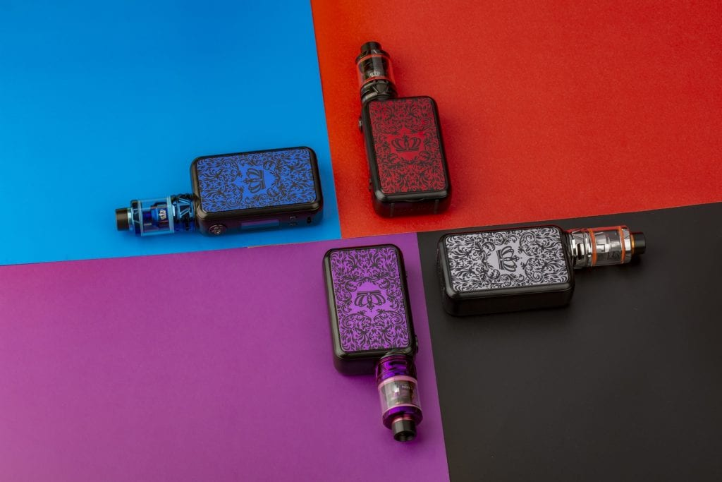 array of box mods in different colors